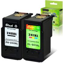 GREENCYCLE Remanufactured PG-240XL 240 XL CL-241XL 241 XL Ink Cartridge Compatible for Canon PIXMA MG3620 MG4220 MG3220 MG2220 MX392 MX432 MG3522 Printer (Black, 1 Pack ; Tri-Color, 1 Pack)