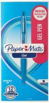 Paper Mate Gel Pens, Fine (0.5mm), Blue, 12 Count