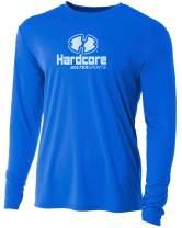 Hardcore Men's Long Sleeve Loose Fit Rash Guard Surf Shirt Water Sports Swimwear