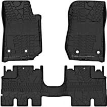 oEdRo Floor Mats Liners Compatible for 2014-2018 Jeep Wrangler JK Unlimited JKU 4 Door (Not for JL),TPE All Weather Protection, Includes Front and Rear Floor Liners
