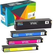 Do it Wiser Compatible Ink Cartridge Replacement for HP 970XL 971XL 970 XL 971 XL for HP Officejet Pro X476dw X576dw X476dn X451dw X551dw X451dn Printer (Black Cyan Magenta Yellow, 4-Pack)