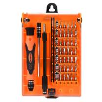 SHOWPIN 45 in 1 Mini Screwdriver Set, Small Torx Set with T3 T4 T5 T6 T7 T8 T9 T10 T15 T20 Security Torx Bit, Professional Repair Tool Kit with Phillips & Hex Bit for iPhone, Tablet, Laptop, PC Repair