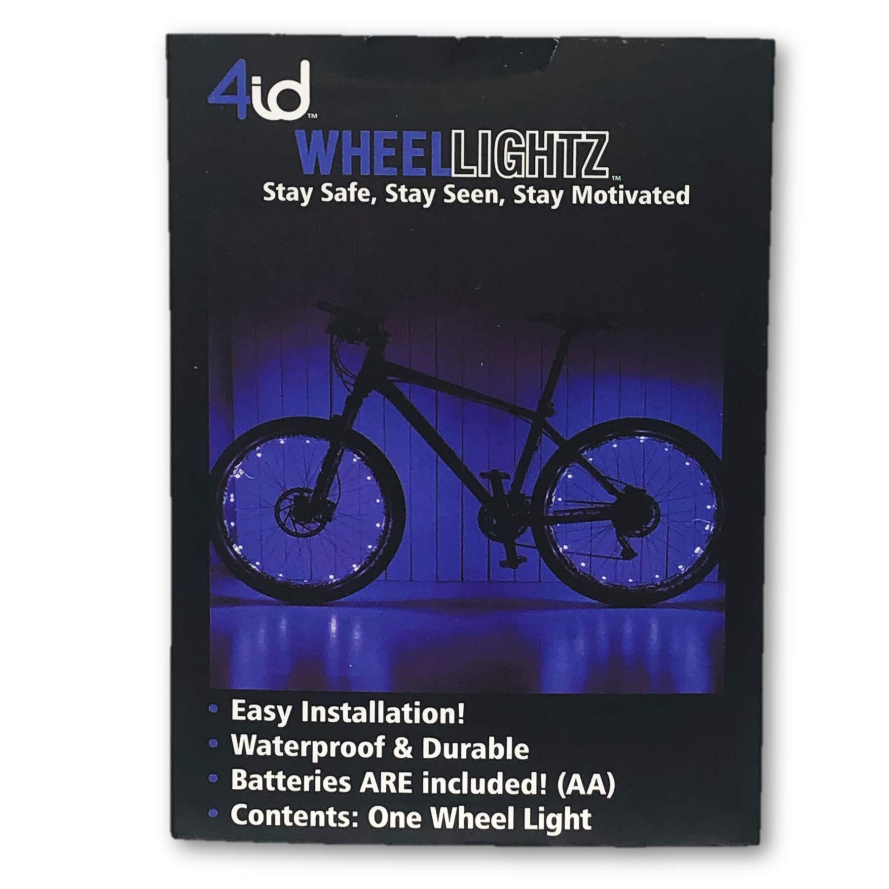4ID   Wheel Lightz   Ultra Bright LED Bike Safety Lights   2 Light Settings