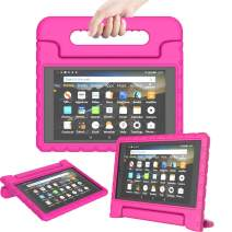 TIRIN Kids Case for All-New Fire HD 8 2018/2017 - Lightweight Shockproof Convertible Handle Stand Case for Amazon Fire HD 8 Tablet (8th/7th Generation, 2018/2017 Release), Rose