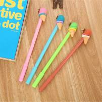 WIN-MARKET Food Sweet Ice Cream Cone Gel Ink Pen Cute Kawaii Black Writing Pens Ballpoint Black Ink Gel Pen Party Gift Gel Ink Pens Funny School Stationery Office Supplies(8PCS)