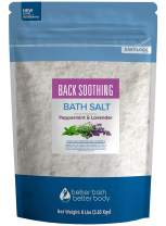 Back Soothing Bath Salt 128 Ounces Epsom Salt with Natural Bergamot, Lavender, Eucalyptus and Peppermint Essential Oils Plus Vitamin C in BPA Free Pouch with Easy Press-Lock Seal