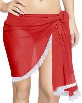 LA LEELA Shawls Scarves Scarf Women Plus Size Swimsuit Coverup Summer Beach Wrap Sarong Solid Plain A