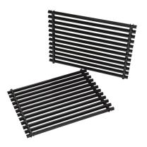 onlyfire Cooking Grill Grid Grates Porcelain-Enamel Rectangle (11.25'' x15'' x0.37'') for Weber 7521, Set of 2