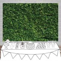 Dudaacvt 7x5ft Green Leaves Photography Backdrops Green Lawn Party Photography Background Birthday Party Newborn Baby Lover Wedding Photo Studio Props D058A