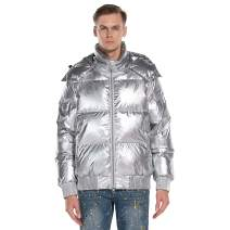 Extreme Pop Mens Pure Down Jacket Shiny Hoody UK Brand