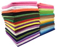 """Misscrafts 42pcs 12""""X12"""" 1.5mm Thick Soft Felt Nonwoven Fabric Sheet Pack DIY Craft Patchwork Sewing Squares Assorted Colors with Thread Bag"""