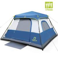 OT QOMOTOP Family Camping Tents, 4/6/8/10 Person Instant Setup (60s) Tent with Rainfly and Carry Bag, Waterproof Tents with Electric Cord Access