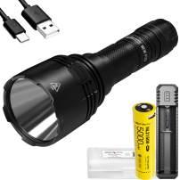 Nitecore New P30 1000 Lumen 676 Yard Long Throw Hunting Flashlight UI1 Battery Charger and LumenTac Battery Case