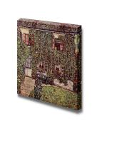 "wall26 - Forsthaus in Weissenbach II 1914 by Gustav Klimt - Canvas Print Wall Art Famous Oil Painting Reproduction - 12"" x 12"""