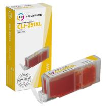 LD Compatible Ink Cartridge Replacement for Canon CLI-251XL 6451B001 High Yield (Yellow)