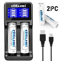 Dilusi P2 Battery Charger, Speedy Smart Recharger with LCD Display Universal for Rechargeable Batteries Ni-MH Ni-Cd A AA AAA AAAA C SC. Li-ion (2-Bay)