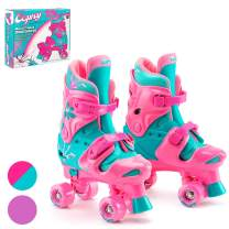 Osprey Kids Roller Skates for Girls Boys - Adjustable Sizing Quad Skates for Beginner Children - Multiple Designs