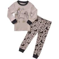 Pajamas for Girls Toddler Kids Long Sleeve Jammies Children Sleepwear 2-Piece Clothes Set Size 2-8T