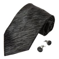 Y&G Men's Fashion Neckwear Multi-Colored Solid Buy for Him Fashion Mens Silk Tie Cufflinks Set 2PT