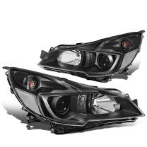 Pair Black Housing Clear Corner Projector Headlight/Lamps Replacement for 10-14 Subaru Outback/Legacy