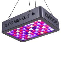 BLOOMSPECT Dimmable Series 600W LED Grow Light, Full Spectrum for Indoor Hydroponics Greenhouse Plants Veg and Bloom (60pcs 10W LEDs)