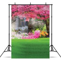 SJOLOON 5x7FT Spring Backdrop Scenery Pictorial Cloth Photography Backdrop Flower Backdrops Easter Backdrop Photo Background Studio Prop JLT4103