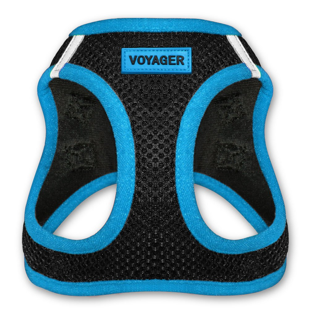 """Best Pet Supplies, Inc. Voyager Step-In Air Dog Harness - All Weather Mesh, Step In Vest Harness for Small and Medium Dogs by Best Pet Supplies - Blue, Medium (Chest: 16"""" - 18"""") (207T-BU-M)"""