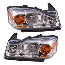 Aftermarket Replacement Driver and Passenger Set Headlights Compatible with 2006-2007 Vue 15877671 15877672