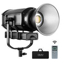 GVM 300W LED Video Light CRI97+ TLCL97+ 5600K 37300lux Continuous Output Lighting with Bowens Mount, Remote & DMX Control System, Photography Lighting for YouTube Portrait Studio Wedding Shooting