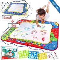 My Future Artist, teytoy ABC Aqua Magic Doodle Mats, Zoo Series Water Drawing Mat Toy Mess Free for Painting Imagination Development Early Education for Infant Kids(2 Pack)