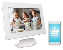 PhotoSpring (32GB) 10-inch WiFi Cloud Digital Picture Frame - Battery, Touch-Screen, Plays Video and Photo Slideshows, HD IPS Display, iPhone & Android app (White - 32,000 Photos)