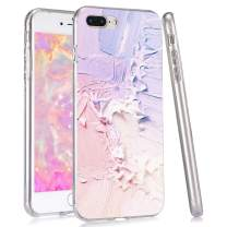 LuGeKe Pink Purple Mix Print Phone Case for iPhone 6/iPhone 6S Silicone Cases Color Blender Pattern Cover Shock Absorption Flexible Skin Frame