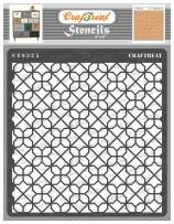 CrafTreat Diamond Pattern Stencils for Painting on Wood, Wall, Tile, Canvas, Paper, Fabric and Floor - Diamond Tile Stencil - 6x6 Inches - Reusable DIY Art and Craft Stencils Patterns for Painting