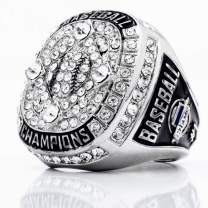 Signature Baseball Championship Ring w/Clear Stones (3X Super Bowl Top Size)
