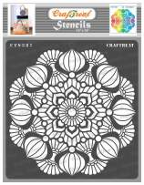 CrafTreat Reusable Mandala Stencils for Painting on Wood, Canvas, Paper, Fabric, Floor, Wall and Tile - Mandala3-12x12 Inches - Reusable DIY Art and Craft Stencils - Big Mandala Stencil