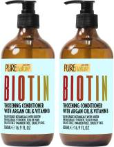 Biotin Shampoo and Conditioner Set - Sulfate Free Deep Treatment with Morrocan Argan Oil - Helps with Hair Growth and Fight Hair Loss
