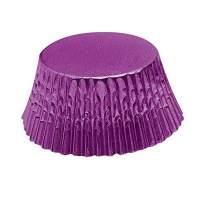 Fox Run Purple Foil Disposable Bake Cups, 3.25 x 3.25 x 1.25 inches