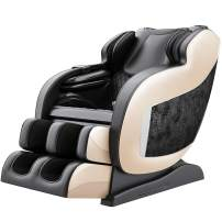 Real Relax 3D Massage Chair Recliner with Bluetooth, Space Saver, Body Scan, SL Track, and Assembled (Black)