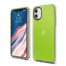 elago iPhone 11 Clear Hybrid Case [Neon Yellow]