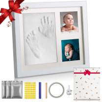 Newborn Baby Handprint and Footprint Picture Frame Kit,Perfect for Baby Gifts, and Pets, Baby Shower Gifts, Newborn Baby Keepsake Frames,Baby Birthday Gift,Best New Mom Gift