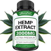 Hemp Oil Capsules 3000 MG - Anxiety & Stress Relief - Premium Hemp Capsules - Made in USA - 100% Natural - Anti Inflammatory, Mood & Immune Support - Better Deep Sleep - Ideal Omega 3, 6, 9 Source