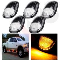 cciyu Cab Marker Lights 5 Pack Clear Top Roof Marker Lights Markers Light Kit with Built-in LED Amber Bulbs Replacement fit for 03-16 Dodge Ram 2500 3500
