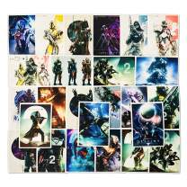 Game Destiny 2 Laptop Stickers Vinyl for Water Bottle Snowboard Car Suitcase Helmet Bicycle Guitar Door Travel Luggage Phone Case DIY Decoration Fashionable Waterproof Decal (25pcs)
