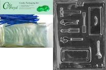 Cybrtrayd Mdk25B-D043 Plastic mold kit Clear Clear