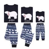 Family Christmas Pajamas Set - 2 Piece Pjs Sets Cotton Sleepwears for Mom,Dad,Kids