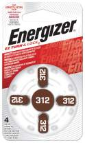 Energizer EZ Turn & Lock Size 312 Hearing Aid Battery, 96-Count (Pack of 24)