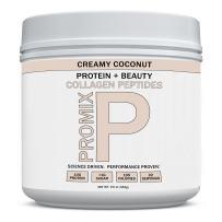 PROMIX Coconut Collagen Peptides Powder, Pasture-Raised Grass Fed Hydrolysate   Creamy Coconut,16oz   Keto, Paleo, Non GMO, Gluten Free, Natural Organic, Hydrolyzed   Healthy Skin, Bones, Hair, Joints