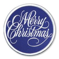Merry Christmas Embossed Foil Seals, 48 Count (Blue)