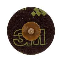 Cubitron 3M Roloc Disc 777F, TR, 3 in x NH, 36 YF-weight, Brown