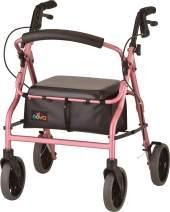 "NOVA Zoom Rollator Walker with 20"" Seat Height, Pink"